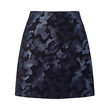 Buy Miss Selfridge Camo Jacquard Mini Skirt, Blue Online at johnlewis.com