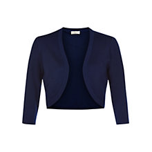 Buy Hobbs Carrie Open Neck Bolero, French Blue Online at johnlewis.com
