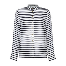 Buy Hobbs Monica Shirt, Blue/Ivory Online at johnlewis.com