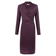 Buy Hobbs Laine Dress, Burgundy Camel Online at johnlewis.com
