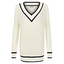 Buy Hobbs Sadie Jumper, Ivory/Navy Online at johnlewis.com