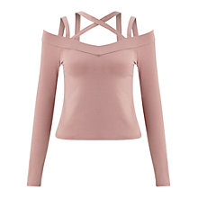 Buy Miss Selfridge Multi Strap Top, Mink Online at johnlewis.com