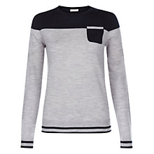 Buy Hobbs Cheyenne Jumper, Navy/Grey Online at johnlewis.com