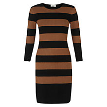 Buy Hobbs Emmy Dress, Black Vicuna Online at johnlewis.com