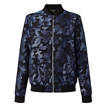 Buy Miss Selfridge Camo Jacquard Bomber Jacket, Blue Online at johnlewis.com