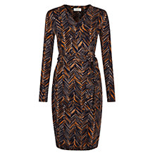 Buy Hobbs Joyce Dress, Orange Navy Online at johnlewis.com