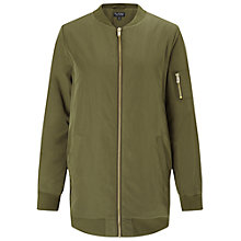 Buy Miss Selfridge Longline Bomber Jacket Online at johnlewis.com