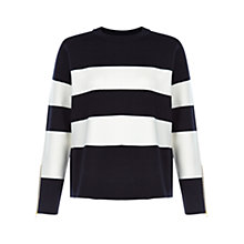 Buy Hobbs Brooke Jumper, Navy/Ivory Online at johnlewis.com