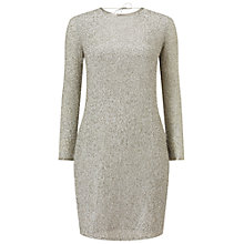 Buy Miss Selfridge Beaded Cowl Neck Dress, Silver Online at johnlewis.com