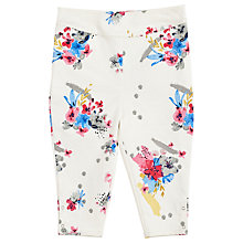Buy Angel & Rocket Girls' Maddi Floral Cropped Trousers, Cream/Multi Online at johnlewis.com