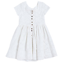 Buy Angel & Rocket Girls' Broderie Lace Dress, White Online at johnlewis.com
