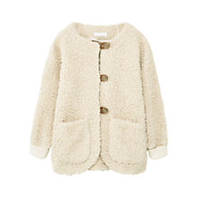 Buy Mango Kids Girls' Faux Sheepskin Jacket, Cream Online at johnlewis.com