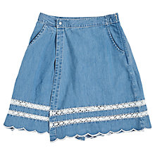 Buy Angel & Rocket Girls' Bonnie Lace Trim Culottes, Blue Online at johnlewis.com