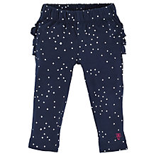 Buy Angel & Rocket Baby Violet Frill Back Leggings, Navy Online at johnlewis.com