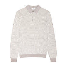 Buy Reiss Cosmic Contrast Weave Long Sleeve Polo Shirt Online at johnlewis.com