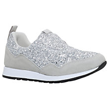 Buy KG by Kurt Geiger Logical Fabric Trainers, Silver Glitter Online at johnlewis.com