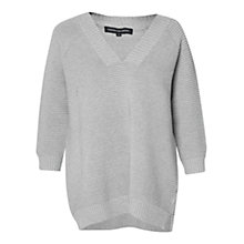 Buy French Connection Mozart Ripple Long Sleeve V Neck Jumper Online at johnlewis.com