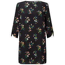 Buy Miss Selfridge Petite Printed Dress, Black Online at johnlewis.com