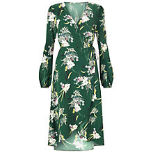 Buy Miss Selfridge Orchid Printed Midi Dress, Green Online at johnlewis.com