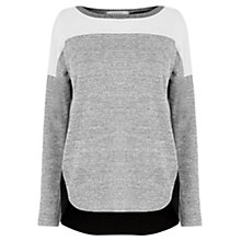 Buy Oasis Yoke Patched Colourblock Jumper, Multi Online at johnlewis.com