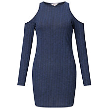 Buy Miss Selfridge Petite Jersey Cold Shoulder Dress, Mid Blue Online at johnlewis.com