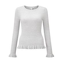 Buy Miss Selfridge Frill Hem Rib Top Online at johnlewis.com