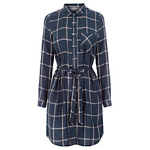 Buy Oasis Check Shirt Dress, Blue Online at johnlewis.com