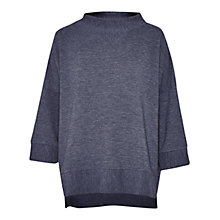 Buy French Connection Sudan Marl Oversized Ribbed Top, Dark Grey Mel Online at johnlewis.com