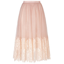 Buy Miss Selfridge Mesh Midi Skirt, Nude Online at johnlewis.com