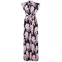 Buy French Connection Meadow Jersey Maxi Dress, Blue/Keywest Coral Online at johnlewis.com