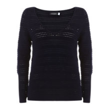Buy Mint Velvet Pointelle V-Neck Jumper Online at johnlewis.com