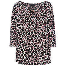 Buy French Connection Meadow Cowl Neck Jersey Top, Powder/Black Online at johnlewis.com