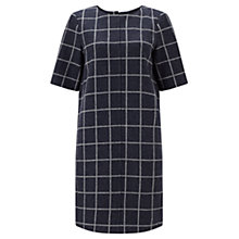 Buy Jigsaw Window Pane Tunic Dress, Navy Online at johnlewis.com