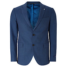 Buy Gant Birdseye Linen-Blend Tailored Blazer, Navy Online at johnlewis.com