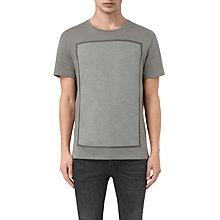 Buy AllSaints Blanco Rectangle Crew Neck T-Shirt, Pewter Grey Online at johnlewis.com