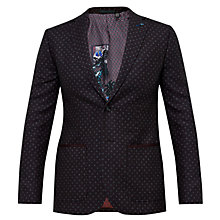 Buy Ted Baker Rogers Blazer, Dark Red Online at johnlewis.com