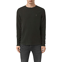 Buy AllSaints Clash Long Sleeve Crew Neck Top, Shadow Green Online at johnlewis.com