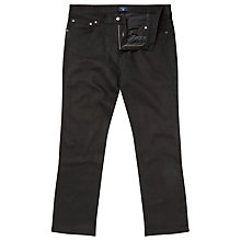 Buy Gant Regular Straight Jeans, Black Raw Online at johnlewis.com