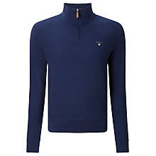 Buy Gant Cotton Honeycomb Half Zip Jumper Online at johnlewis.com