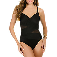 Buy Miraclesuit Madero Mesh Control Swimsuit, Black Online at johnlewis.com