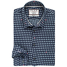 Buy Thomas Pink Blake Cloud Print Textured Slim Fit Shirt, Navy/Pink Online at johnlewis.com