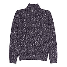 Buy Reiss Anton Funnel Neck Flecked Jumper, Navy Online at johnlewis.com