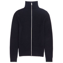 Buy Reiss Howl Full Zip Knit Cardigan, Navy Online at johnlewis.com