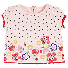 Buy Angel & Rocket Baby Georgia Flower and Polka Dot T-Shirt, Pink Online at johnlewis.com