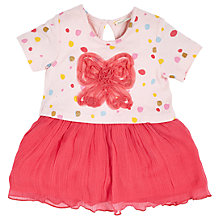 Buy Angel & Rocket Baby Bow Spot Dress, Pink Online at johnlewis.com