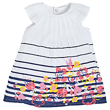 Buy Angel & Rocket Baby Megan Floral Dress, Headband and Knickers Set, White/Multi Online at johnlewis.com