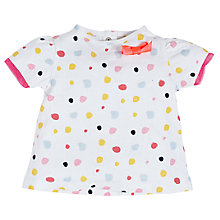 Buy Angel & Rocket Baby Ruby Spot T-Shirt, White/Multi Online at johnlewis.com