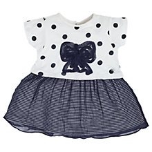 Buy Angel & Rocket Baby Elsie Bow Spot and Stripe Dress, Navy/White Online at johnlewis.com
