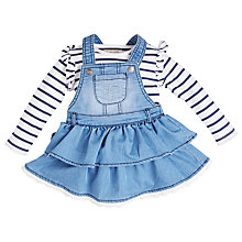 Buy Angel & Rocket Baby Bodysuit and Pinafore Set, Blue Online at johnlewis.com
