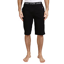 Buy Polo Ralph Lauren Slim Fit Jersey Sleep Shorts, Black Online at johnlewis.com